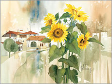 Gallery print  Sunflower greetings - Franz Heigl