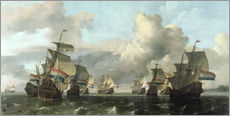 Wall sticker  The Dutch Fleet of the India Company - Ludolf Backhuysen