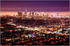 Wall sticker  Los Angeles at night - Daniel Heine