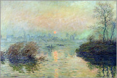 Gallery Print  Sun Setting over the Seine at Lavacourt. Winter Effect - Claude Monet