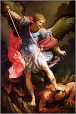 Gallery print  The archangel Michael defeating Satan - Guido Reni