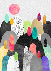 Gallery print  Little Land of Pebbles - Elisabeth Fredriksson