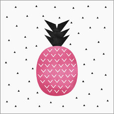 Wall sticker  Pink Pineapple - Elisabeth Fredriksson