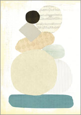 Gallery print  Piled abstract - Little Miss Arty