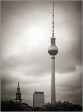 Wall sticker Berlin TV Tower (Black and White Photography)