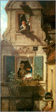 Wall sticker  The intercepted love letter - Carl Spitzweg