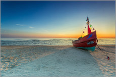 Gallery print  Fishing boat on the Baltic Sea Usedom beach - Dennis Stracke