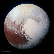 Pluto, seen by New Horizons spacecraft