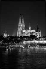 Wall sticker  Cologne Cathedral at night - rclassen