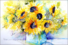 Gallery print  Sunflowers in vase - Brigitte Dürr