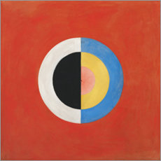 Wood print  The Swan, No. 17 - Hilma af Klint