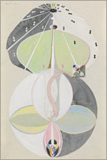 Acrylic print  Tree of Knowledge, No. 5 - Hilma af Klint