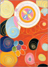Alu-Dibond  The Ten Largest, No. 3, Youth - Hilma af Klint