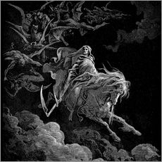 Wall Stickers  Death on a Pale Horse - Gustave Doré