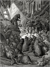 Wall Sticker  The council of the rats - Gustave Doré