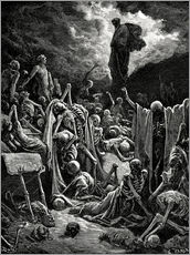 Wall Sticker  The Vision of The Valley of The Dry Bones - Gustave Doré