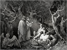 Gallery Print  The Inferno, Canto 13 - Gustave Doré