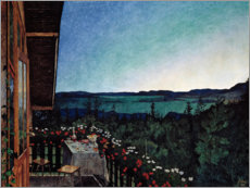 Canvas print  Summer night - Harald Oscar Sohlberg