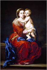 Gallery Print  The Madonna of the Rosary - Bartolome Esteban Murillo