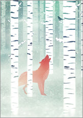 Wall Stickers winter fox