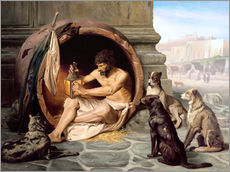 Gallery print  Diogenes in his barrel - Jean Leon Gerome