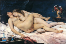 Gallery print  The sleep - Gustave Courbet
