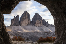Gallery Print  Three peaks, Dolomites, South Tyrol - Gerhard Wild