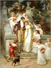 Wall sticker  Off for the Honeymoon - Frederick Morgan