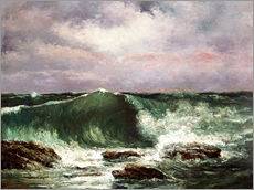 Wall Sticker  Waves  - Gustave Courbet