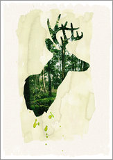 Wall sticker  The stag - Sybille Sterk