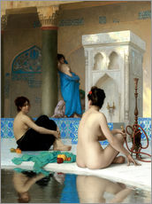 Gallery print  After the bath - Jean Leon Gerome