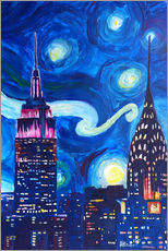 Wall sticker  Starry Night, in New York - Van Gogh inspirations in Manhattan - M. Bleichner