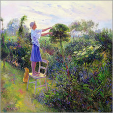 Gallery Print  Working in the garden - Timothy Easton