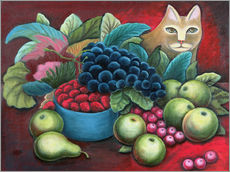 Gallery print  Cat and fruits - Jerzy Marek