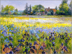 Wall Sticker  field of flowers - Timothy Easton