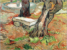 Gallery print  The Bench at Saint-Remy - Vincent van Gogh
