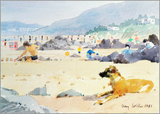 Wall Sticker  Dog on the Beach, Woolacombe - Lucy Willis