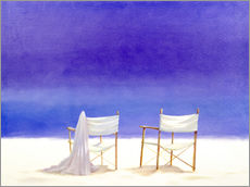 Gallery print  Chairs on the beach, 1995 - Lincoln Seligman