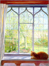 Wall Stickers  Cat in window in spring - Timothy Easton
