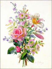 Wall sticker  A Pink Bouquet - Albert Williams
