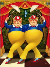 Wall sticker  Tweedledum and Tweedledee - Frances Broomfield