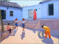 Wall sticker  Filling Water Buckets, Rajasthan - Andrew Macara