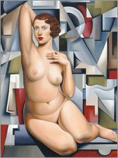 Gallery print  Seated cubist naked woman - Catherine Abel