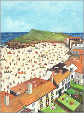 Gallery print  View from the Tate Gallery St. Ives - Judy Joel