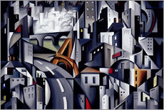 Wall sticker  The left bank - Catherine Abel