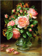 Wall sticker  English Elegance Roses in a Glass - Albert Williams