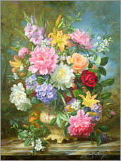 Gallery print  Peonies and mixed flowers - Albert Williams