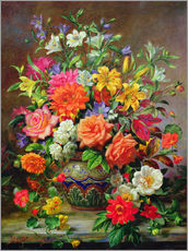 Gallery print  September Flowers, Symbols of Hope and Joy - Albert Williams