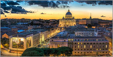 Gallery print  Roma St. Peters dome - FineArt Panorama