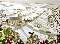 Gallery Print  Church in Snowy Valley - Vanessa Bowman
